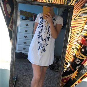 White Boho XS casual Dress